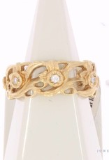 Vintage 18 carat gold ring with ca. 0.14ct brilliant cut diamond