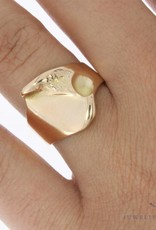 Robust vintage 14 carat gold Lapponia ring