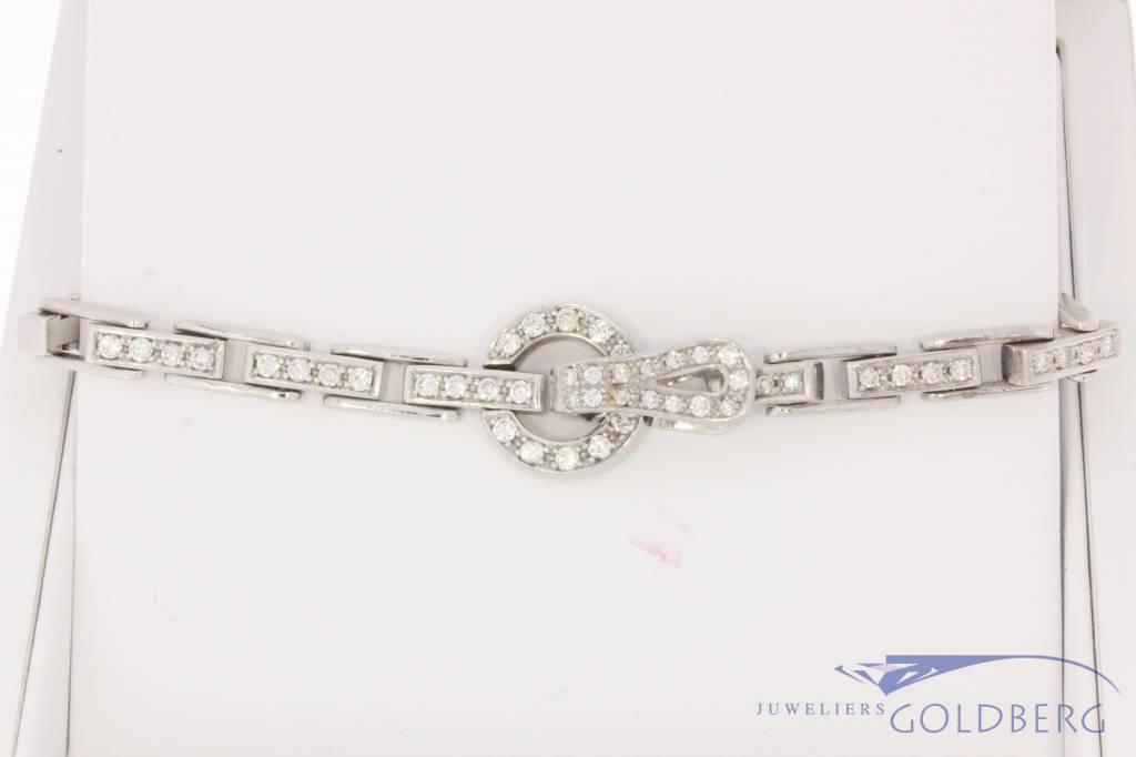 18 carat white gold bracelet with 1.49ct of diamonds