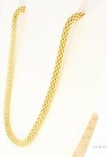 Vintage 18 carat gold ''popcorn'' necklace