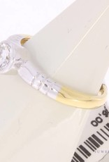 18 carat bicolor gold solitair ring with ca. 0.45ct brilliant cut diamond