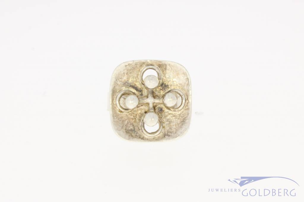 Robust vintage silver customizable ring