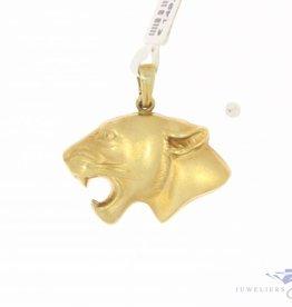 Vintage 14 carat gold pendant panther head