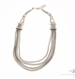 Robust and heavy vintage silver necklace Mexico