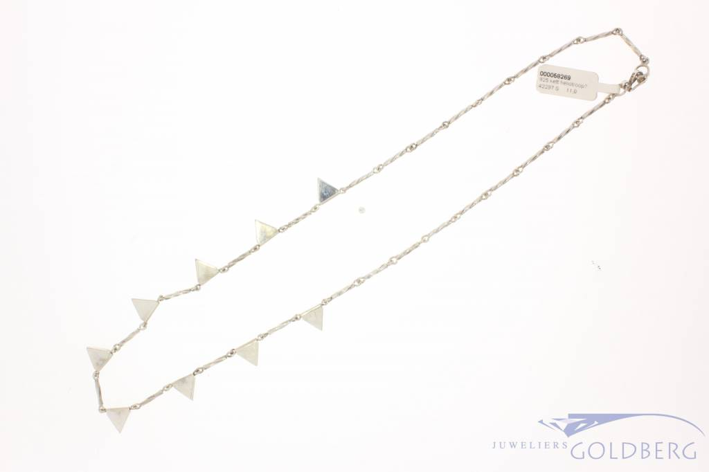 Vintage silver necklace with heliotrope