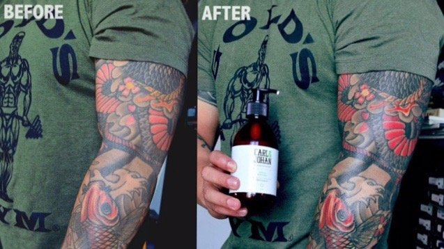 Before and after the use of our C&J products! This picture says it all!!