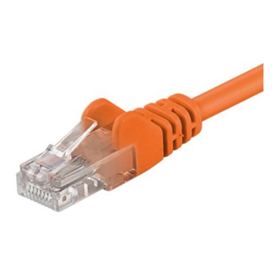 Cat5e 0.5M oranje UTP kabel