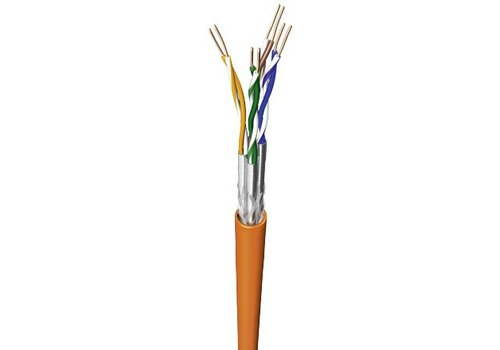 CAT7 S/FTP network cable solid 50M 100% Copper FRNC-B
