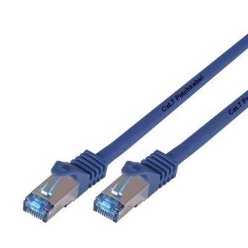 Cat7 0.25M Blauw SSTP/PiMF halogeenvrij patchkabel