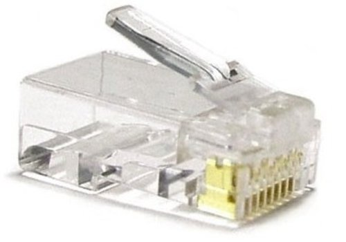 Cat6 Connector RJ45  Unshielded 10pcs For Solid Cable