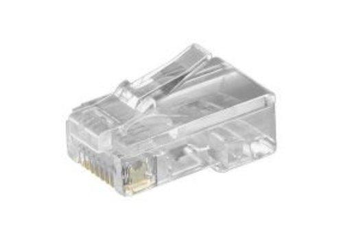 RJ45 Connector unshielded 10 stuks voor platte kabel