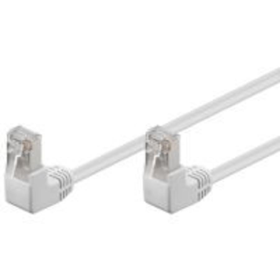 Cat5e 0.25 M Wit UTP-kabel 2 x haaks