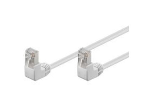 Cat5e U/UTP Cable 2 x hooked 0.5M White