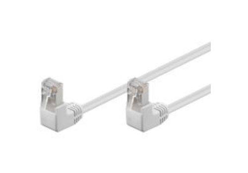 Cat5e 3 M Wit UTP-kabel 2 x haaks