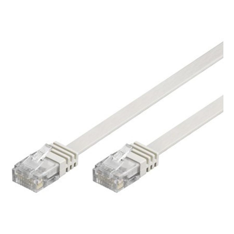 Cat6 1 M platte UTP kabel wit