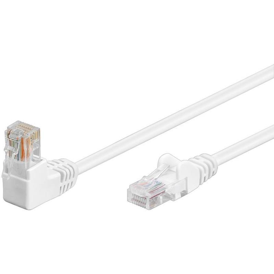 Cat5e 2 meter Wit UTP-kabel 1 x haaks
