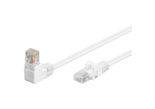 Cat5e 3 meter Wit UTP-kabel 1 x haaks