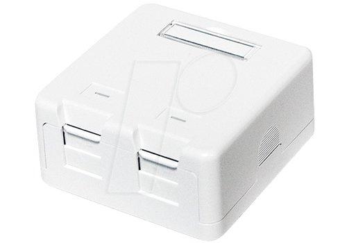 Keystone opbouw netwerkdoos 2 poorts wit