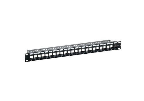 Keystone Patchpanel 24 Poorts SNAP IN RAL9005