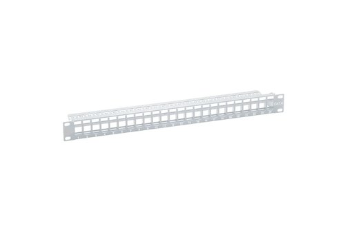 Keystone Patch Panel for 24 Ports SNAP IN RAL7035 Grey