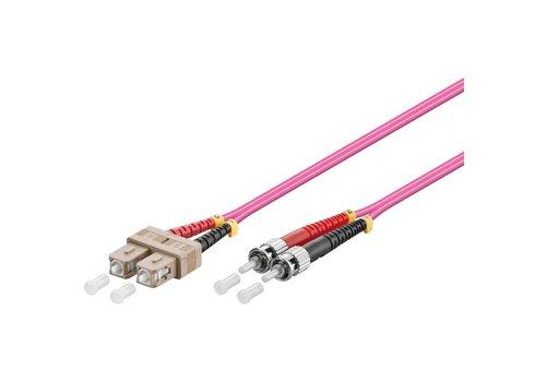 Glasvezelkabel duplex OM4 50/125 SC-ST 5 M