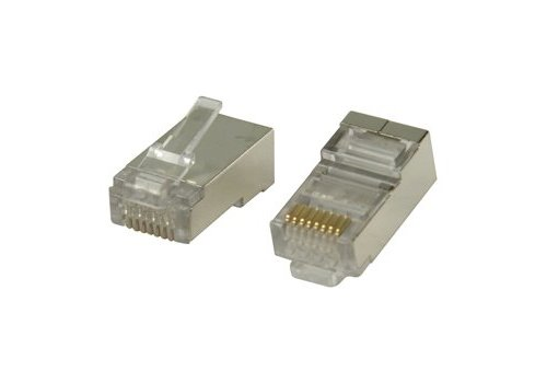 Cat6 Connector RJ45 For Solid Cable STP 10pcs