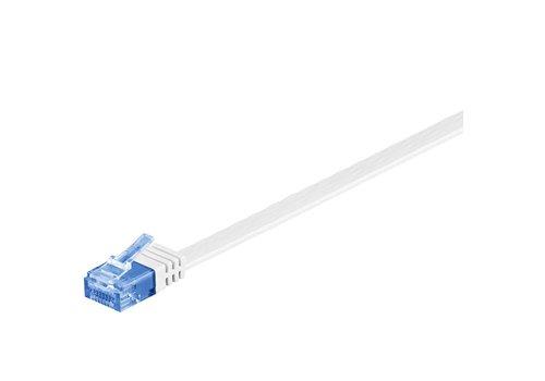 Cat6a 10 M platte UTP kabel wit