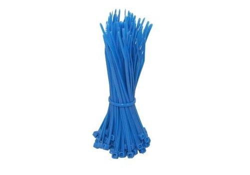 Kabelbinders 140mm blauw 100 stuks