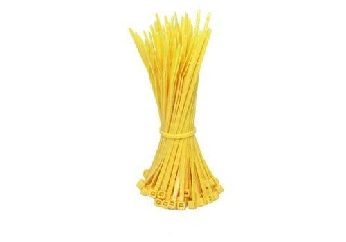 Kabelbinders 140mm geel 100 stuks