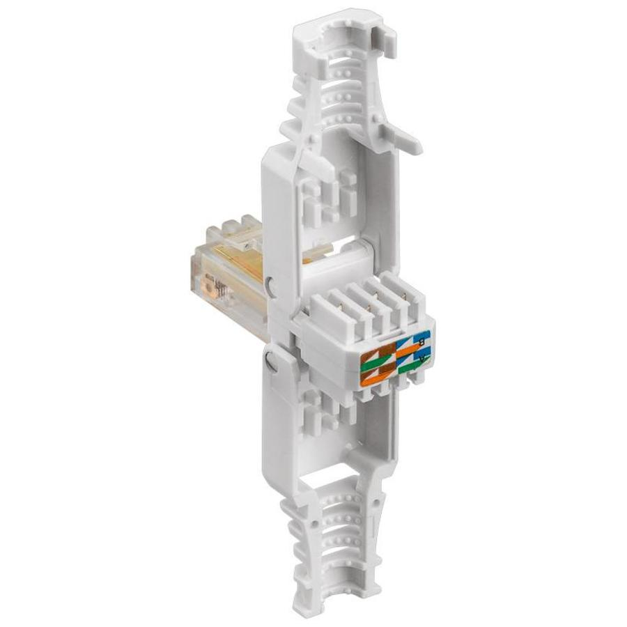 Cat5 Toolless RJ45 connector met tule