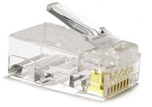 CAT5 Connector RJ45 - Unshielded 10 stuks voor stugge kabel