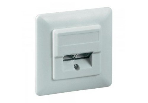 Cat5e Wall Plate Flush Mounting White