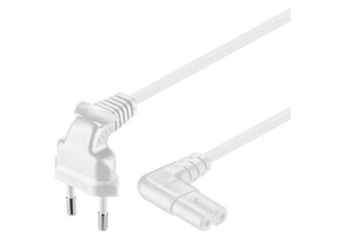 Powercable CEE 7/16 hoked (male) to C7 haaks (female) 0.75 M
