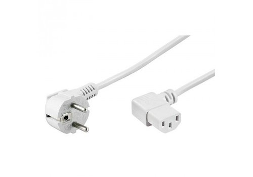 Powercable CEE 7/7 hoked (male) to C13 hoked (female) 1.5 M