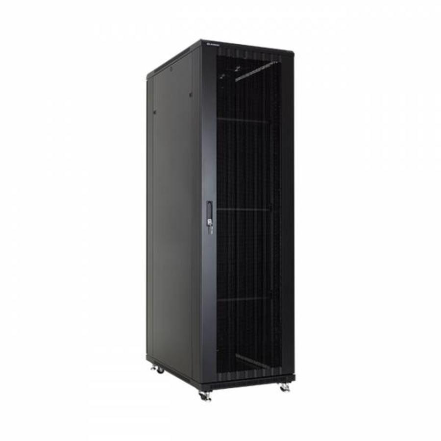 42U serverkast met geperforeerde deuren 600x800x2055mm (BxDxH)