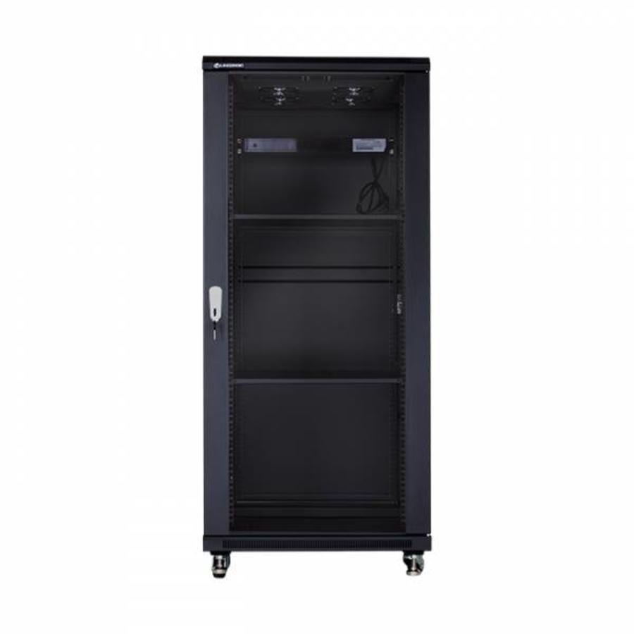 27U serverkast met glazen deur 600x800x1388mm (BxDxH)