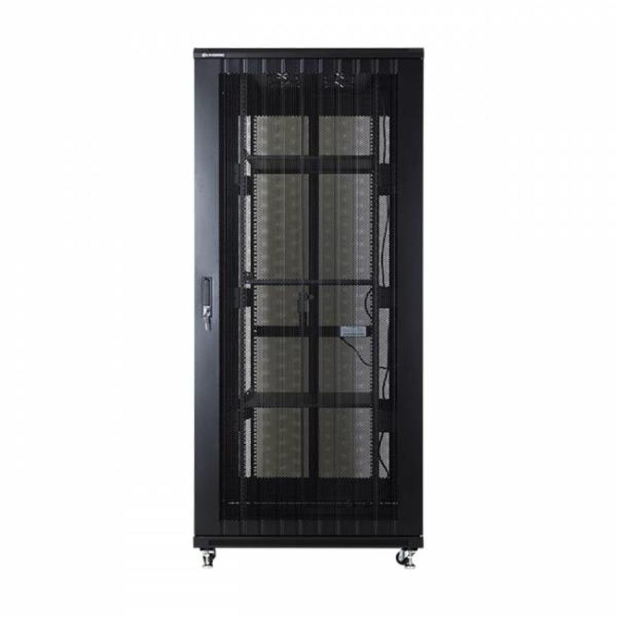 37U serverkast met geperforeerde deuren 800x800x1833mm (BxDxH)