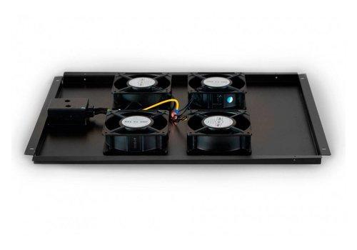 Ventilatorset met 4 ventilatoren geschikt voor alle serverkasten van 800mm diepte