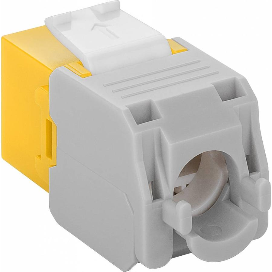 CAT6a Keystone RJ45 unshielded yellow
