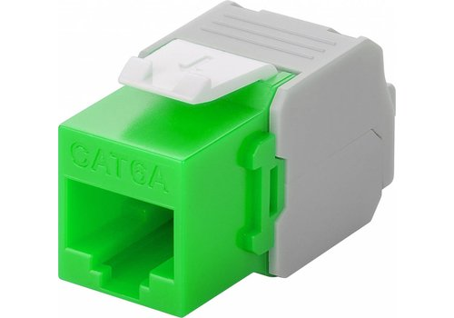 Cat6a Keystone RJ45 Unshielded Green