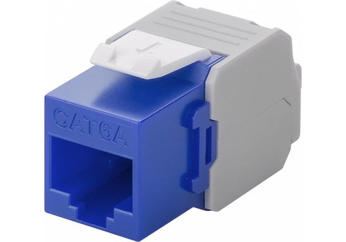 Cat6a Keystone RJ45 Unshielded Blue