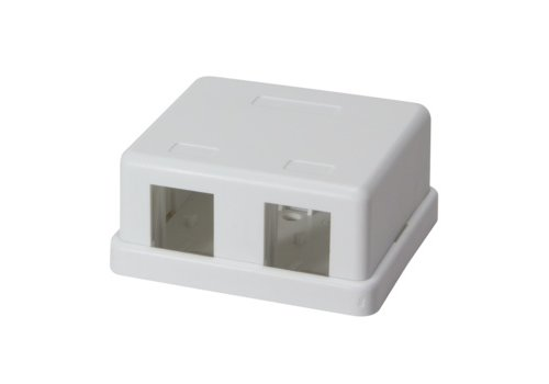 Keystone Surface Mount Box 2 port UTP White