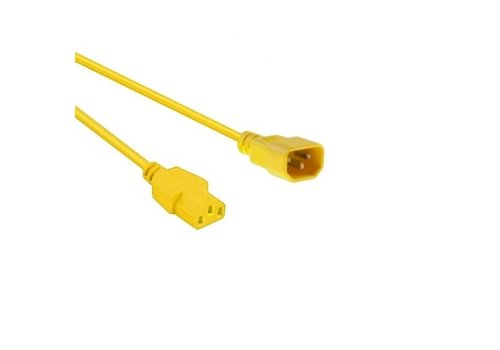 Netsnoer C14 - C13 3x 0.75mm² Geel 1.2m