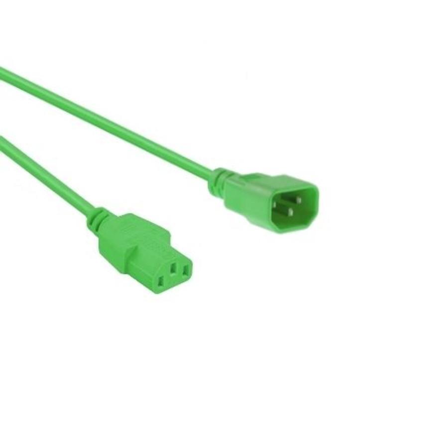 Netsnoer C14 - C13 3x 0.75mm?? Groen 0.6m