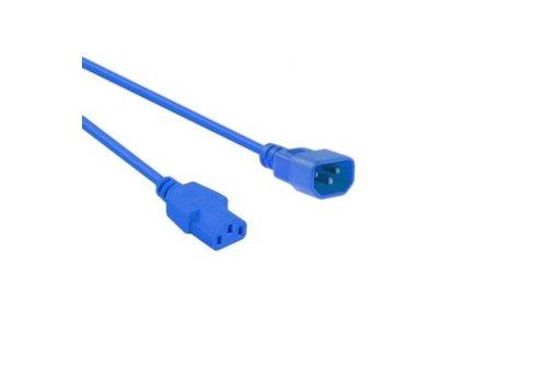Netsnoer C14 - C13 3x 0.75mm² Blauw 0.6m