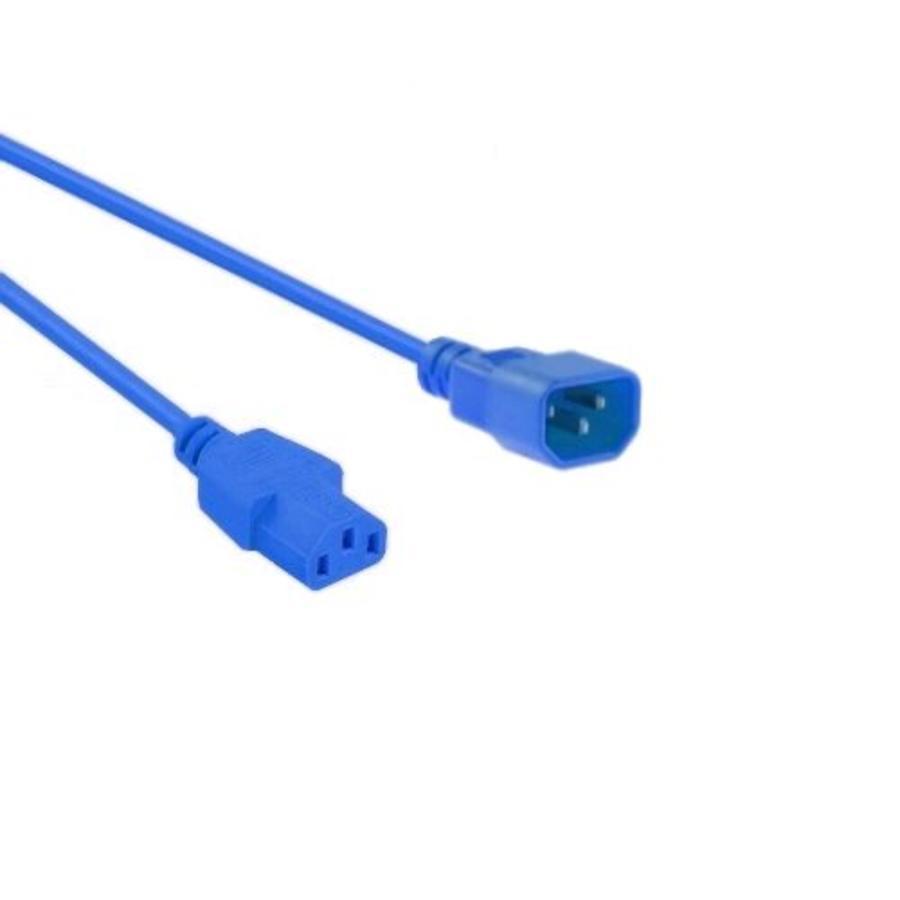 Netsnoer C14 - C13 3x 0.75mm?? Blauw 0.6m