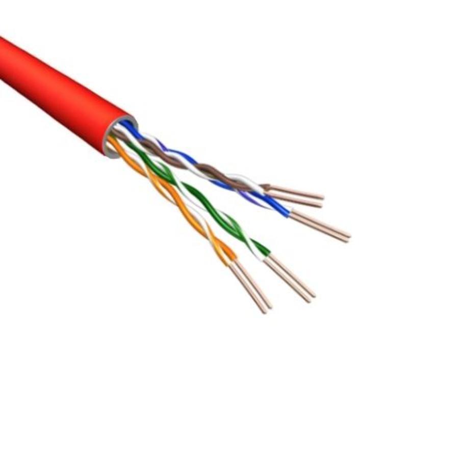 Cat5e U/UTP Kabel Soepel AWG24 PVC Rood 500m 100% koper