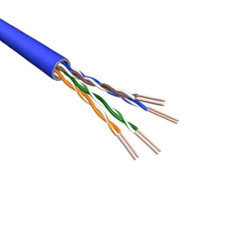 Cat5e U/UTP Kabel Soepel AWG24 PVC Blauw 500m 100% koper