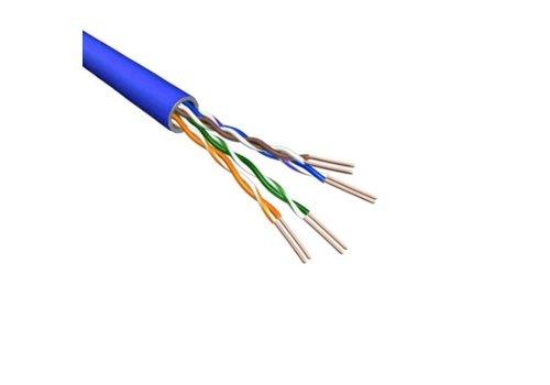 Cat6 U/UTP Kabel Soepel AWG24 PVC Blauw 500m 100% koper