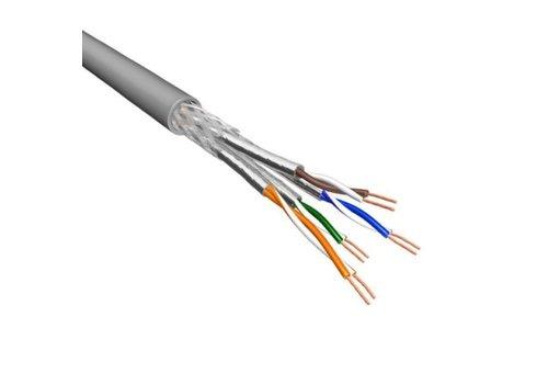 Cat6 S/FTP Kabel Soepel AWG26 PVC Grijs 500m 100% koper